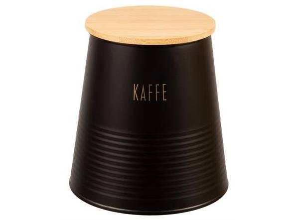 Bilde av Boks kaffe ,liten, sort metall